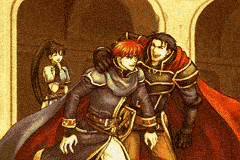 From left: Lyn, Eliwood, Hector
