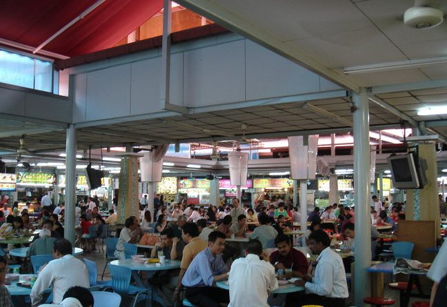 Hawker at Singapore