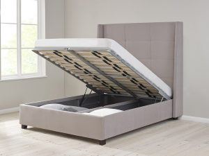 Lift Up Storage Bed with Central Divider