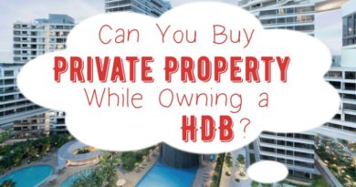 Can you private property while owning a HDB